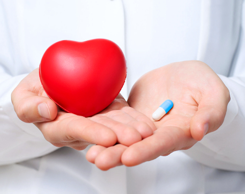 healthy heart by medicine concept