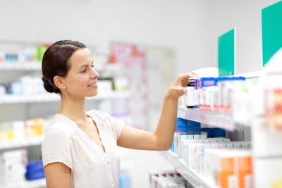customer choosing drugs at pharmacy